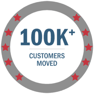100,000 customers moved