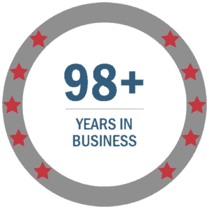 98+ years in business